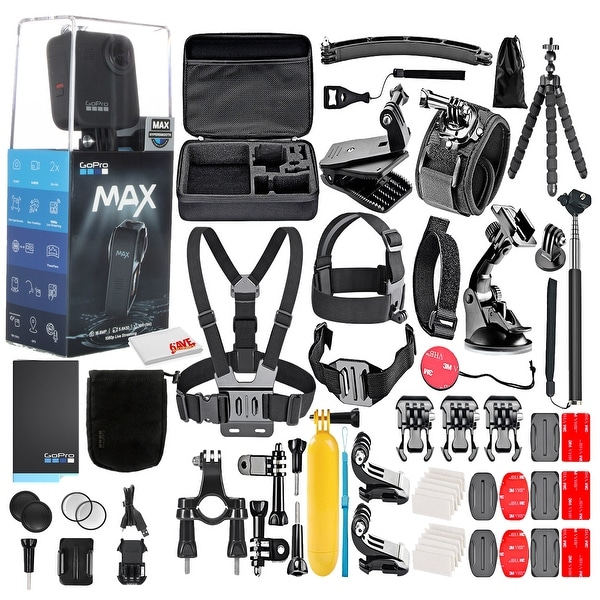 GoPro MAX 360 Waterproof Action Camera --With 50 Piece Accessory Kit. Opens flyout.