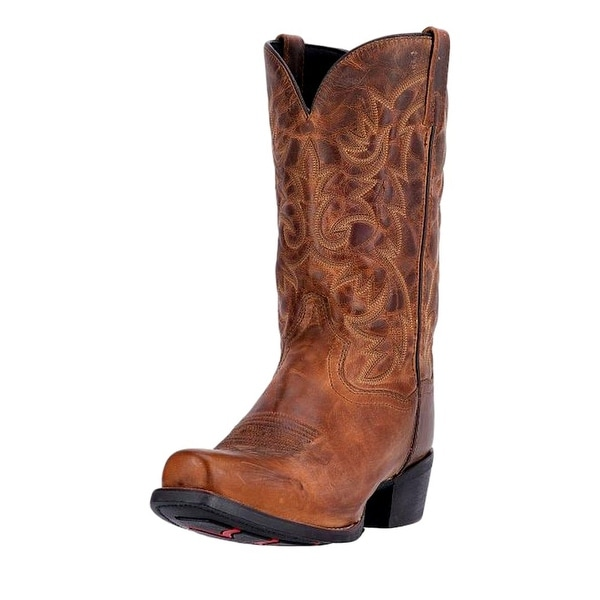 Laredo Western Boot Mens 12 Bryce Cowboy Heel CST Tan Distressed