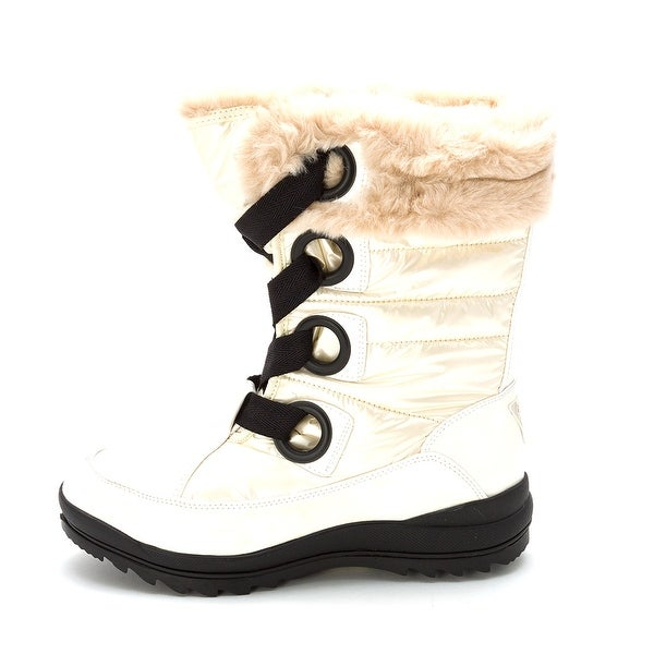 GUESS Womens Valentime Faux Fur Closed Toe Mid-Calf Cold Weather Boots