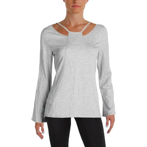 Nanette Lepore Womens Pullover Top Mesh Inset Cut Out