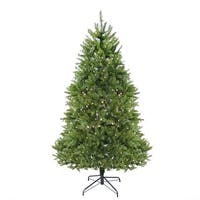 9' Pre-Lit Northern Pine Full Artificial Christmas Tree - Warm Clear LED Lights - green