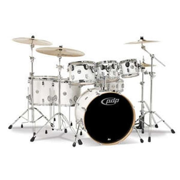PDP Pearlescent White Chrome Hardware Kit Drums, 7 Piece