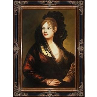 Francisco Goya 'Portrait of Dona Isabel de Porcel' Hand Painted Oil Reproduction