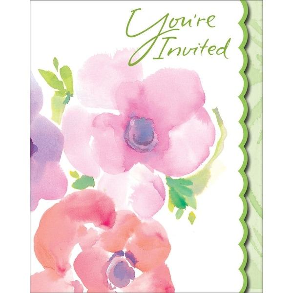 Shop Club Pack Of 48 Warm Floral Holiday Party Paper Invitation Cards