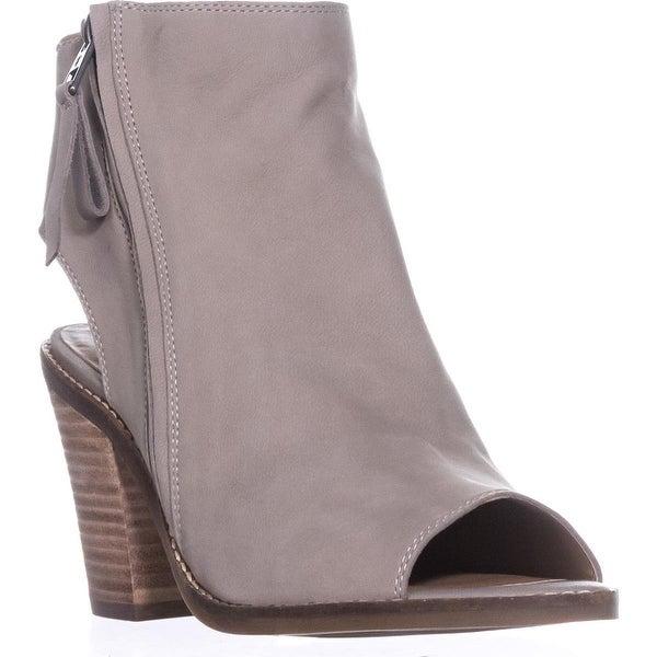 Lucky Brand Terrie Peep Toe Booties, Warm Stone - 8.5 us / 38.5 eu