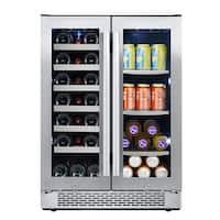 "Avallon AWBC241GGFD 24"" Wide 21 Bottle and 60 Can Capacity Built-In Wine Cooler and Beverage Center Combo"