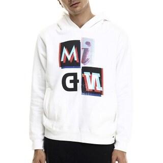 Rocawear Blak Mind Graphic Fleece Hoodie Sweatshirt White Hoodie