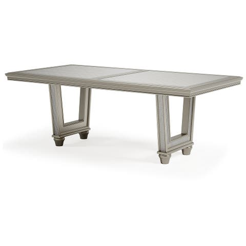 "Chevanna Platinum Rectangular Dining Room Table - 84""W x 42""D x 30""H"