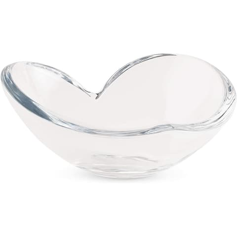 Nambe Large Glass Heart Bowl
