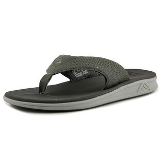 Reef Rover Men Open Toe Synthetic Gray Thong Sandal