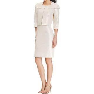 Tahari Womens Dress With Jacket Metallic Textured - 10 https://ak1.ostkcdn.com/images/products/is/images/direct/8d502cb74f2b987b84e4f96aaf62de5af41f3196/Tahari-Womens-Dress-With-Jacket-Metallic-Textured.jpg?impolicy=medium