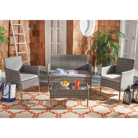 Safavieh Outdoor Abdul 4-Piece Patio Set