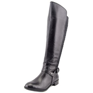 Anne Klein KAHLNQW Wide Round Toe Leather Knee High Boot