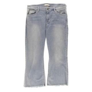 Guess Womens Cropped Jeans Denim Frayed Hem - 31