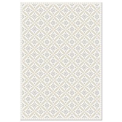 Decorative Vinyl Floor Mat Mosaic Tile - 4.5' x 6.5'