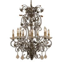 "Classic Lighting 3740 32"" Crystal Chandelier from the Bella Uva Collection"
