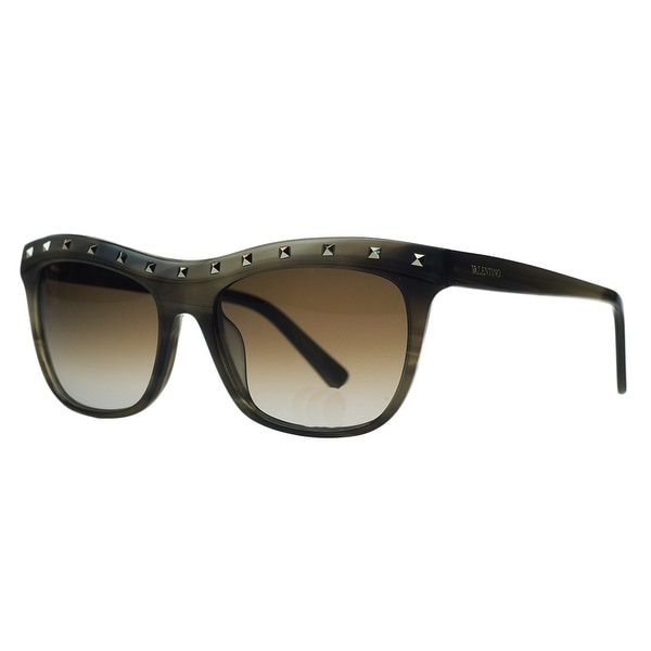 Valentino V 650/S 305 Khaki Rectangle Sunglasses