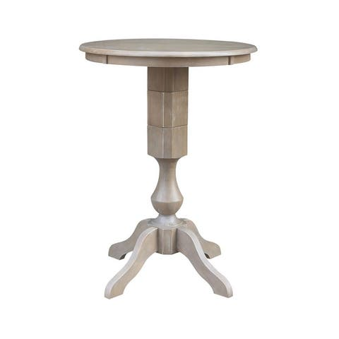 """Solid Wood 30"""" x 30"""" Round Pedestal Table"""