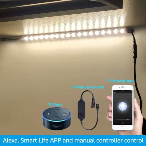 4 Pack 12 inch Alexa Smart LED Safe Lighting Kits, 3000K Warm White