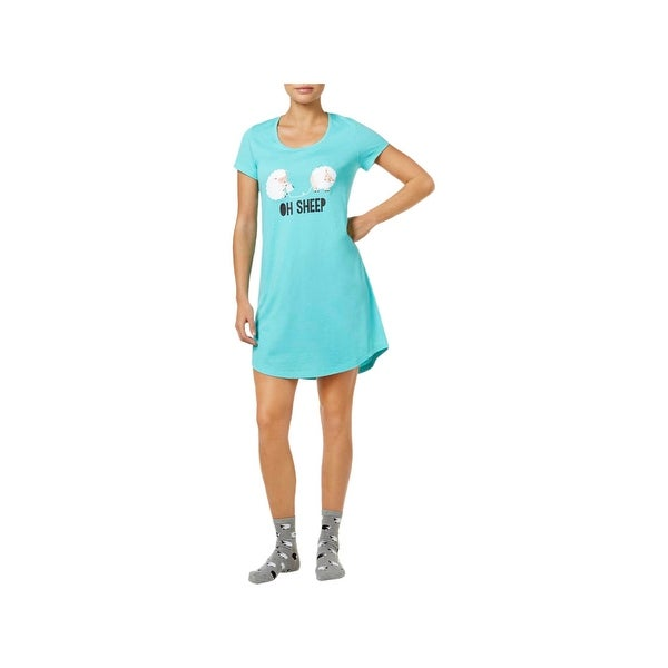 bb21fc4db46c Shop Jenni by Jennifer Moore Womens Oh Sheep Sleep Shirt Graphic Short  Sleeve - M - Free Shipping On Orders Over $45 - Overstock - 22581357