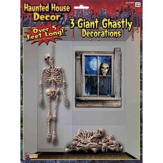 Hanging Skeleton Poster Decoration Prop
