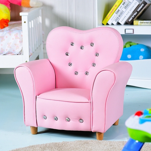 Shop Gymax Pink Kids Teen Sofa Armrest Chair Couch