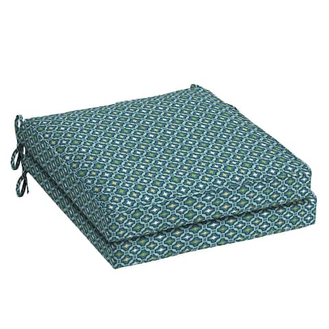 Arden Selections Alana Tile Welted Dining Seat Cushion 2-pack - 21 in L x 21 in W x 5 in H