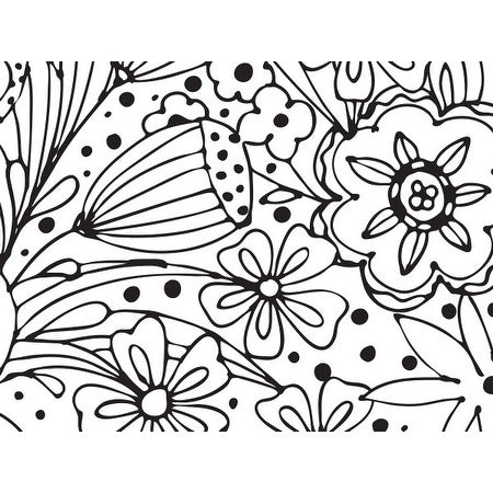 """Pack Of 240, Doodle Garden Recycled Floral Tissue Prints Paper 20"""" X 30"""" Sheets Made In Usa"""