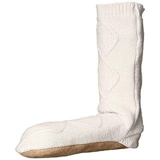 Carole Hochman Womens Cable Knit Slouch Slipper Socks - 10 medium (b,m)