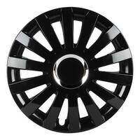 Pilot Automotive WH550-14GB-B Black 14/ 15/ 16-inch Performance E Series Gloss Finish Wheel Cover (Pack of 4)
