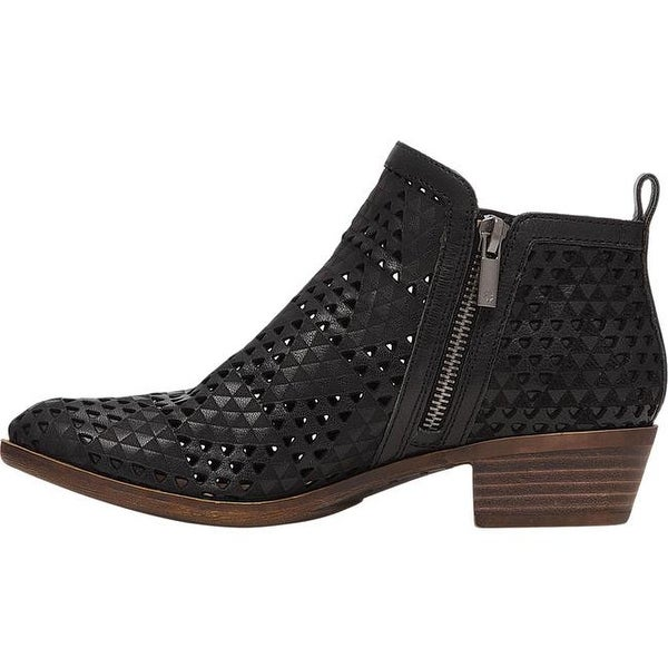 Basel Bootie Black Perforated Nubuck