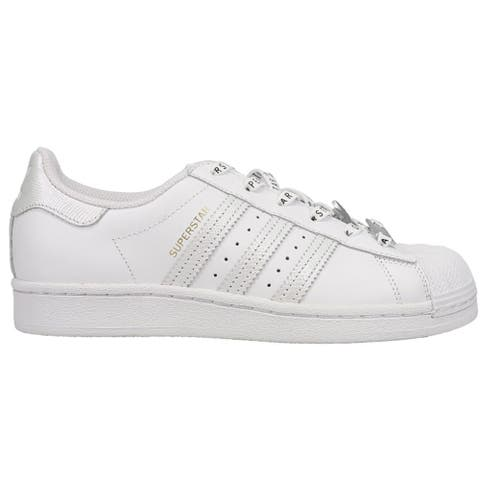 adidas Superstar Lace Up Womens Sneakers Shoes Casual - White