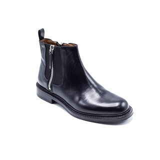 Givenchy Mens Black Leather Double Zip Detail Ankle Boots