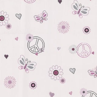 Brewster 443-90537 Love Child Pink Peace And Love Wallpaper