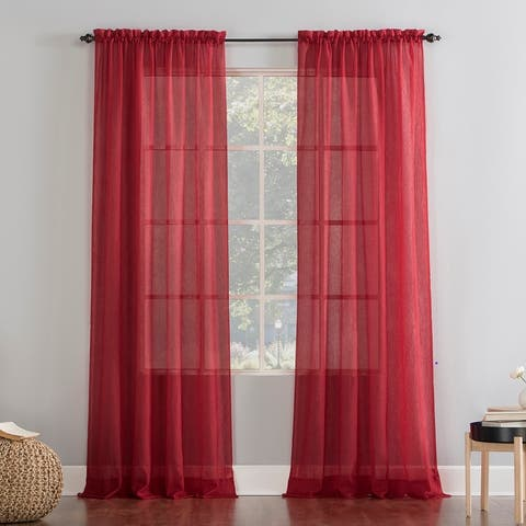 No. 918 Erica Crushed Voile Sheer Rod Pocket Curtain Panel