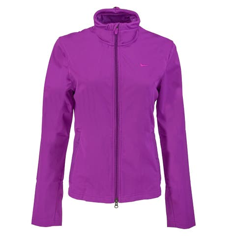 Nike Women's Storm Fit Soft Shell Running Jacket - Violet - L