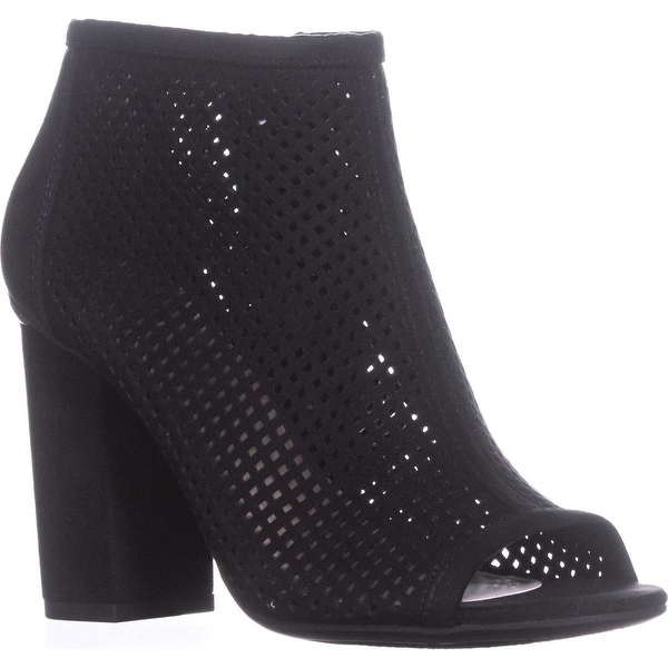 B35 Megan Peep To Booties, Black