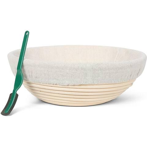 Premium Round Banneton Bread Proofing Basket for Baking