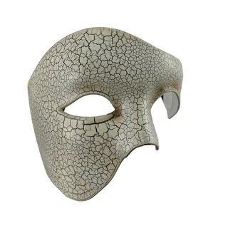 Crackled Finish Half-Face Phantom Masquerade Mask