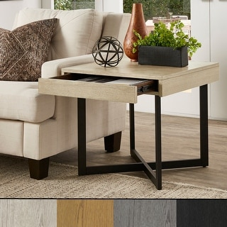 Link to Eldersley Wood Finish End Table with One Drawer by iNSPIRE Q Modern Similar Items in Living Room Furniture