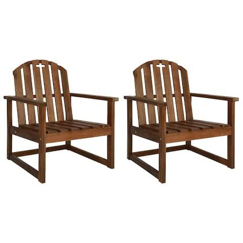 vidaXL Garden Sofa Chairs 2 pcs Solid Acacia Wood