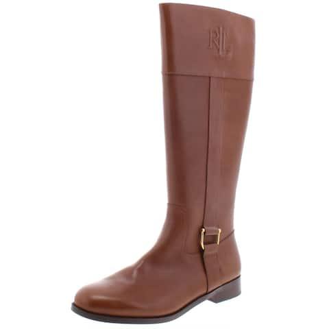 Lauren Ralph Lauren Womens Bernadine Riding Boots Leather Tall