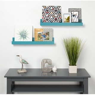 Link to Levie 24 inch 2-Pack Wood Wall Picture Frame Holder Ledge Similar Items in Decorative Accessories