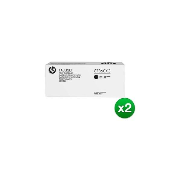 HP 508X Black Contract Toner Cartridge (CF360XC)(2-Pack)