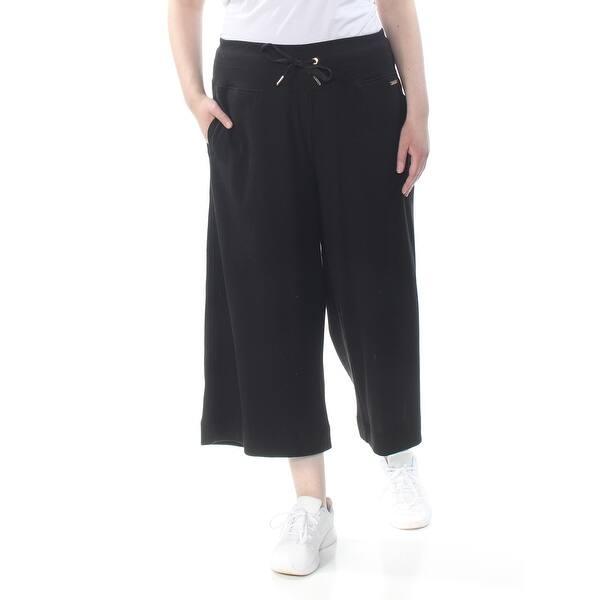 CALVIN KLEIN Womens Black Culottes High Waist Wide Leg Pants Plus Size: 2X