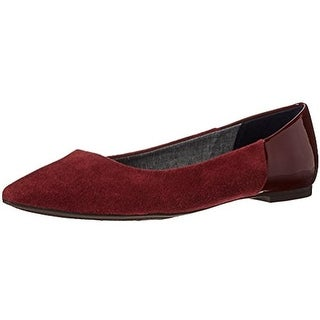 Dr. Scholl's Womens Sidney Microsuede Pointed Toe Flats - 7 medium (b,m)
