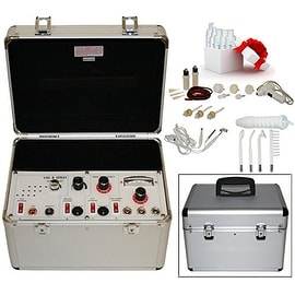 LCL Beauty Portable 5 in 1 Facial Machine: Galvanic, High Frequency, Brush, Vacuum, Sprayer