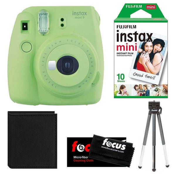 Fujifilm Instax Mini 9 (Lime Green) w/ Instax Film Essential Bundle