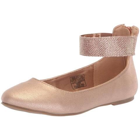Kids Nine West Girls Floycee Zipper Ballet Flats