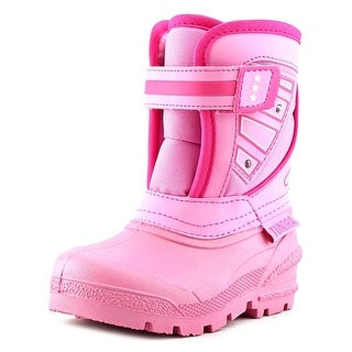 Tundra Oregon Youth Round Toe Synthetic Pink Snow Boot